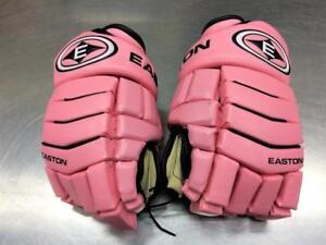 Gants de Hockey 14'' EASTON Synergy 500 rose ***Parfaite Condition*** #F027235