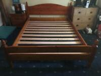 King Size Bed - Wood