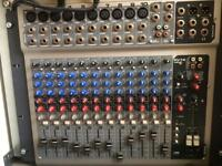 Wharfdale pro PA speakers, mixer, stands and cables etc.