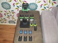 bite alarms gardner ATTs underlight roller system x3 with receiver and spares all boxed