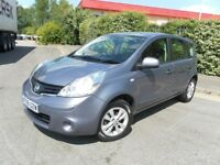 2009 NISSAN NOTE 1.4 ACENTA VERY LOW MILEAGE YEAR MOT VERY ECONOMICAL & RELIABLE