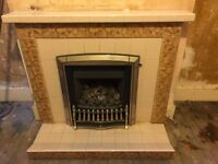 Gas Fire and Fireplace Surround