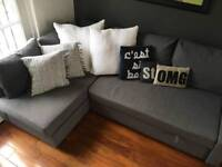 Ikea grey FRIHETEN L SHAPED SOFA BED COUCH WITH STORAGE GOOD CONDITION
