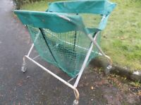 Large storage net trolley on wheels