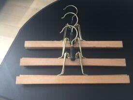Wooden trouser hanger