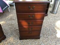 5 Draw Chest of Draws - Solid Wood - 2 Available
