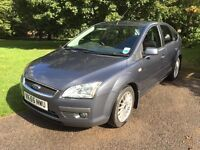 Ford Focus Ghia 1.6, Low Mileage, Good Condition, MOT Until August 2017
