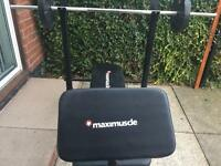 Maximuscle weights bench plus weights