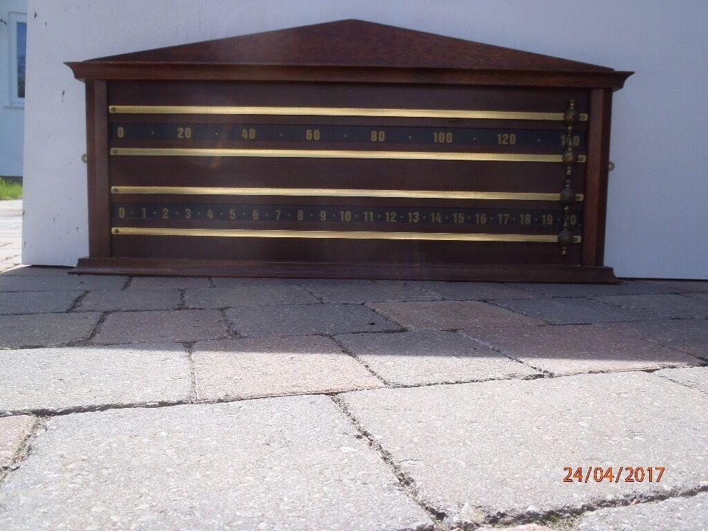 4 man classic billiard/snooker scoreboard