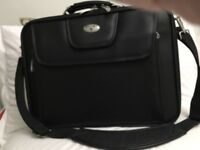 Black leather laptop case purchased from Antler