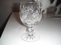Edinburgh crystal decanter with four glasses. £100 ono.