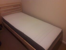 IKEA Single bed and HOVAG Mattress - HARDLY USED!
