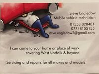 Mobile mechanic services.