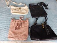 Bag job lot, nica bag, anna field bag and 2 next bags