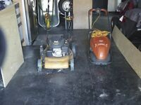 Two Lawnmowers for sale 4 stroke self propelled petrol and hover