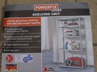 NEW - Sturdy Galvanised Shelving Unit