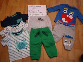 Baby boys clothes bundle - 3-6 months - includes F&F, George, TU, Mothercare and M&Co
