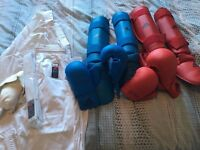 Martial Arts Gi and Pad/Mitt Sets