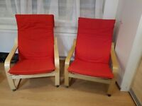 Armchairs, chairs, seats. Almost unused, pair