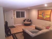 Fully furnished two bedroom walk out.