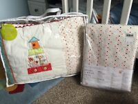Brand new cot bedding & matching curtains