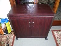 Hostess trolley-heated cabinet and top