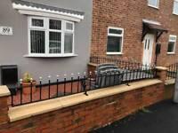 Metal railings and 2 gates