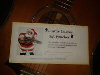 Guitar Lesson Christmas Gift Vouchers