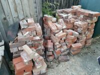 Reclaimed red house bricks