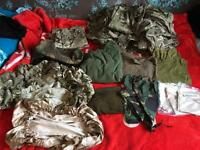 British army Issued kit new and used