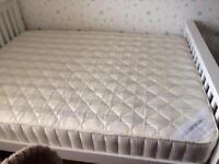 Double sized bed frame and mattress
