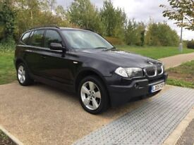 2005 BMW X3 3.0I AUTOMATIC BLACK LEATHER SEATS SAT NAV ELECTR SEATS WARRANTY PART EXCHANGE WELCOME