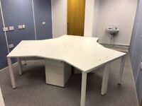 3 Large Modern & Stylish Desks - Good Condition