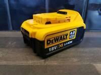 DeWALT DCB182 18V XR Li-ion 4ah battery___________________________________Makita bosch hitachi hilti