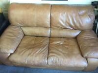Very comfortable leather sofa / FREE