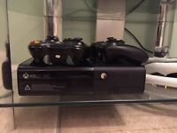 Xbox 360, 500 GB, with 2 wireless controllers