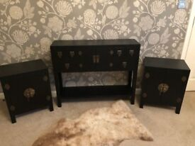 Console Table and 2 Side Tables