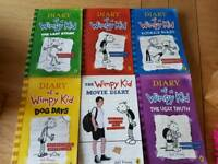 Diary of a Wimpy Kid x6 paperback books