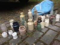 Collecton of old victorian bottles