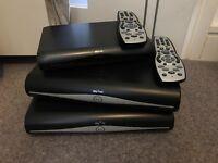 2 x Sky+ HD boxes & 1 Sky HD multiroom box