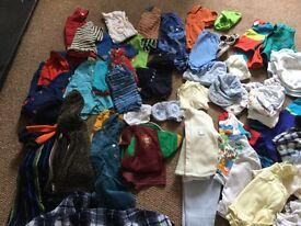 Bundle of baby boys clothing newborn/ 0-3mths