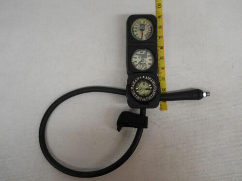 Dacor pressure, depth, & compass 3 gauge console, scubapro diving