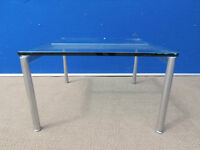 Glass square coffee table (Delivery)