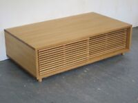Copenhagen Solid Oak Coffee Table from Nathan Furniture new