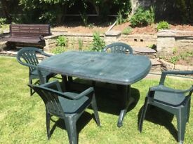 Patio table 4 chairs