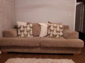 2 Beige/Cream DFS Sofas