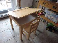 John Crane Children's 2 Piece Rectangular Table/desk and Chair Set by Pintoy