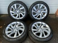 21'' GENUINE RANGE ROVER SPORT NEW MODEL VOGUE DISCOVERY 4 ALLOY WHEELS TYRES ALLOYS 5X120