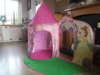 Disney Princess Castle and Garden play tent. Hardly used and in a very good condition.