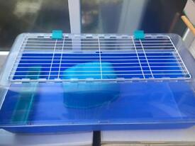 Indoor rabbit / guinea pig cage. Blue. Good condition